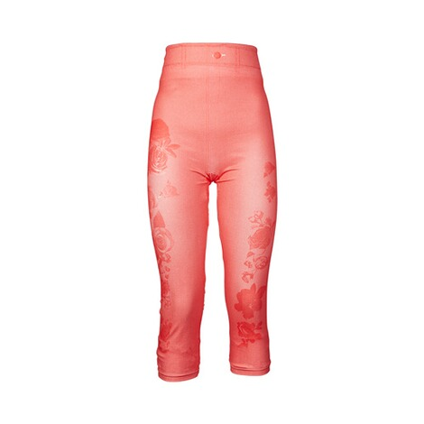 Slim fit capri legging  hibiscus 1