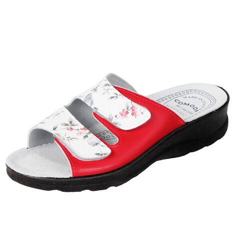 "Zomerslippers ""Modena""  rood 1"