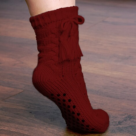 Anti-Rutsch-Socken  bordeaux 1