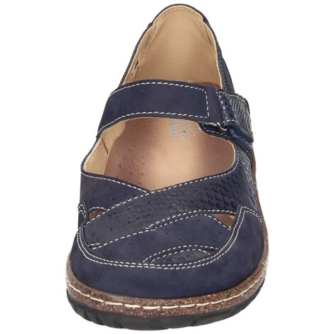 MANITU  Damen Slipper  blau 5
