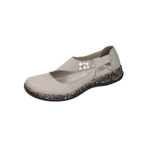 on sale 5dbe0 41581 Rieker Damen Slipper grau Obuwie damskie