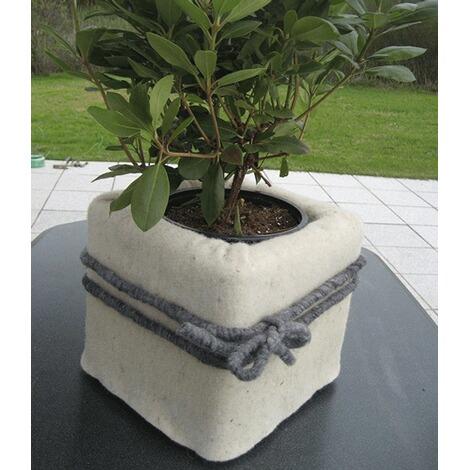 winterschutzmatte aus schafwolle naturwei 200x100 cm frostschutz f r pflanzen und t pfe. Black Bedroom Furniture Sets. Home Design Ideas