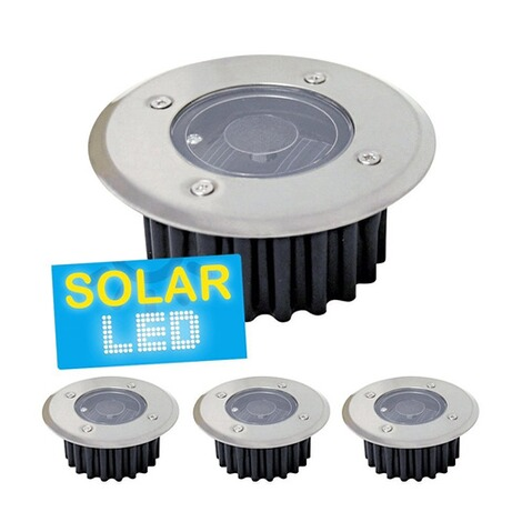 4er-Set LED Solar Bodenstrahler,4er-Set 1