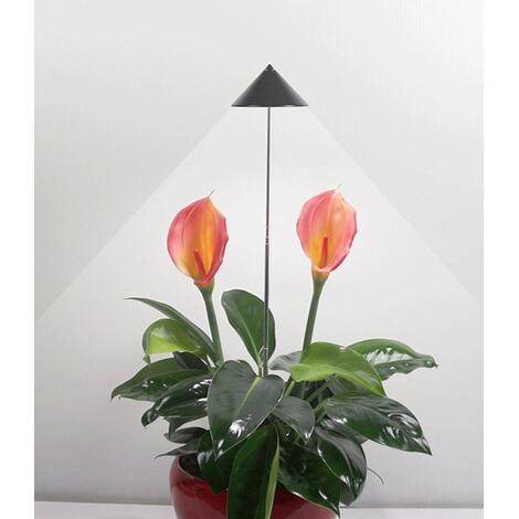 led wachstumslampe f rs zimmer graphit 7 watt pflanzenleuchte pflanzenlicht licht f r. Black Bedroom Furniture Sets. Home Design Ideas