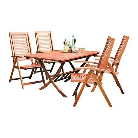 Merxx Gartenmobel Set Aus Holz Klappbar Mit 4 Gartensesseln Online Kaufen Die Moderne Hausfrau
