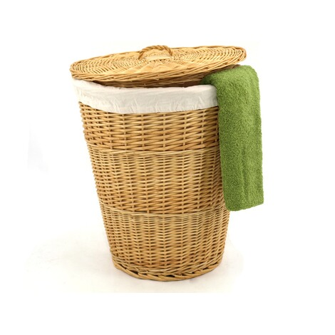 franz mueller w schekorb rund aus weide mit stoffausschlag online kaufen die moderne hausfrau. Black Bedroom Furniture Sets. Home Design Ideas