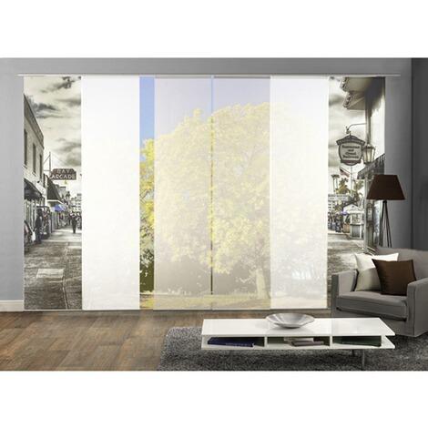 komplett fenster schiebevorhang ballroom 6 er set 245x60 cm schwarz wei online kaufen die. Black Bedroom Furniture Sets. Home Design Ideas