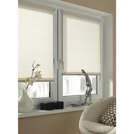 gardinia easyfix dekor rollo streifen wei beige zum. Black Bedroom Furniture Sets. Home Design Ideas