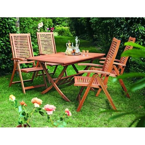 Merxx Gartenmobel Set Aus Holz Klappbar Mit 4 Gartensesseln Online