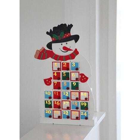 adventskalender snowman wei bunt online kaufen die moderne hausfrau. Black Bedroom Furniture Sets. Home Design Ideas