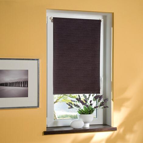 klemmfix thermo rollo verdunklung bambus anthrazit inkl klemmtr ger online kaufen die. Black Bedroom Furniture Sets. Home Design Ideas