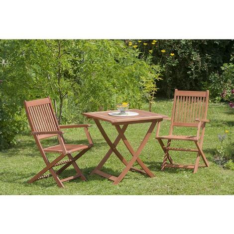 Gartenmöbel Set Florenz 3 Tgl. Aus Eukalyptusholz, Mit Klappsessel Und  Tisch 70x70 Cm Bestellnummer 4064.442.V82