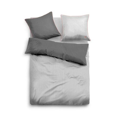 Satin Bettwäsche Mit Reißverschluss Grau Online Kaufen Die