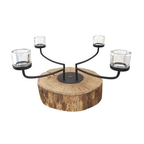 adventskranz auf holzscheibe online kaufen die moderne. Black Bedroom Furniture Sets. Home Design Ideas