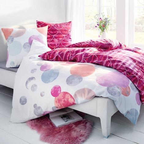 Bettwasche Dots Rosa Weiss 135 X 200 Cm Online Kaufen Die Moderne