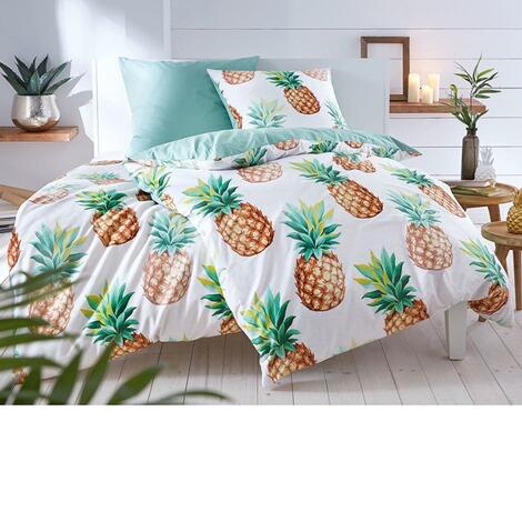 Bettwäsche Sweet Ananas Weißgrün 135 X 200 Cm Online Kaufen Die