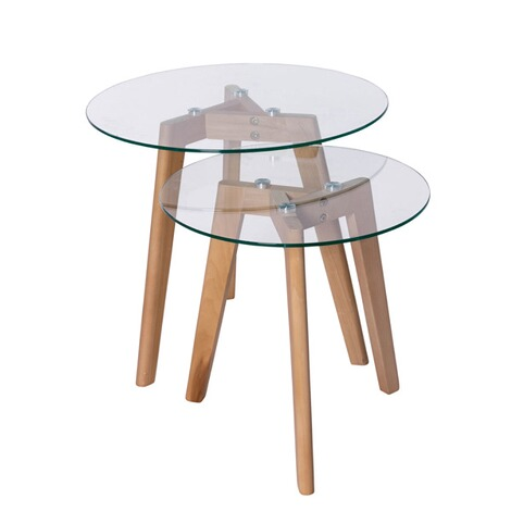 glas beistelltische 2 tlg set online kaufen die moderne hausfrau. Black Bedroom Furniture Sets. Home Design Ideas