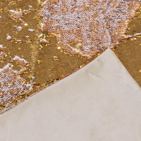 wende plaid pailletten creme goldfarben online kaufen die moderne hausfrau. Black Bedroom Furniture Sets. Home Design Ideas