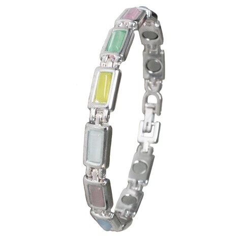 HYDAS  Magnet Armband Pastell  Silber 1