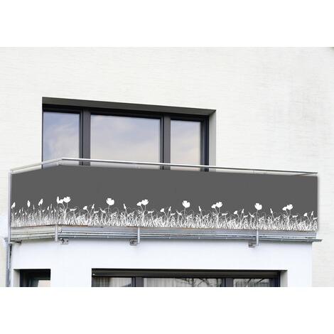 Netz Fã¼R Balkon | Wenko Sichtschutz Anthrazit Fur Balkon Und Terrasse Online Kaufen