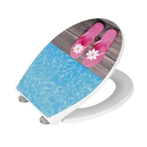wenko wc sitz hochglanz acryl hawaii absenkautomatik fix clip hygiene befestigung duroplast. Black Bedroom Furniture Sets. Home Design Ideas