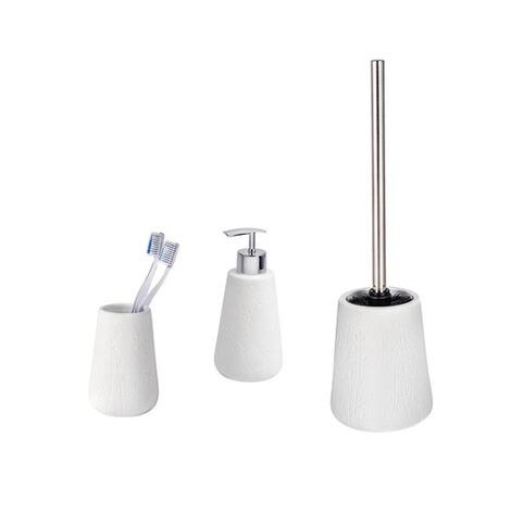 WENKO Bad-Accessoires Set Flora, 3-teilig, Zahnputzbecher, Seifenspender &  WC-Garnitur online kaufen | Die moderne Hausfrau