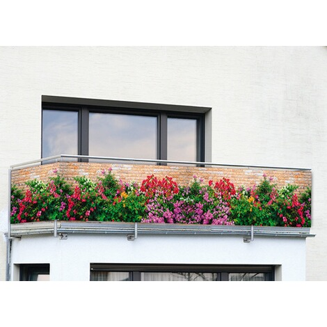 WENKO Sichtschutz Mauer-Blumen, für Balkon und Terasse, 5 m online kaufen |  Die moderne Hausfrau