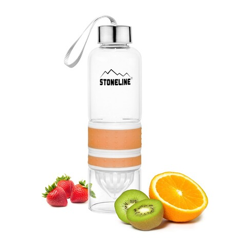 STONELINE2 in 1 Trinkflasche mit Saftpresse, orange 2