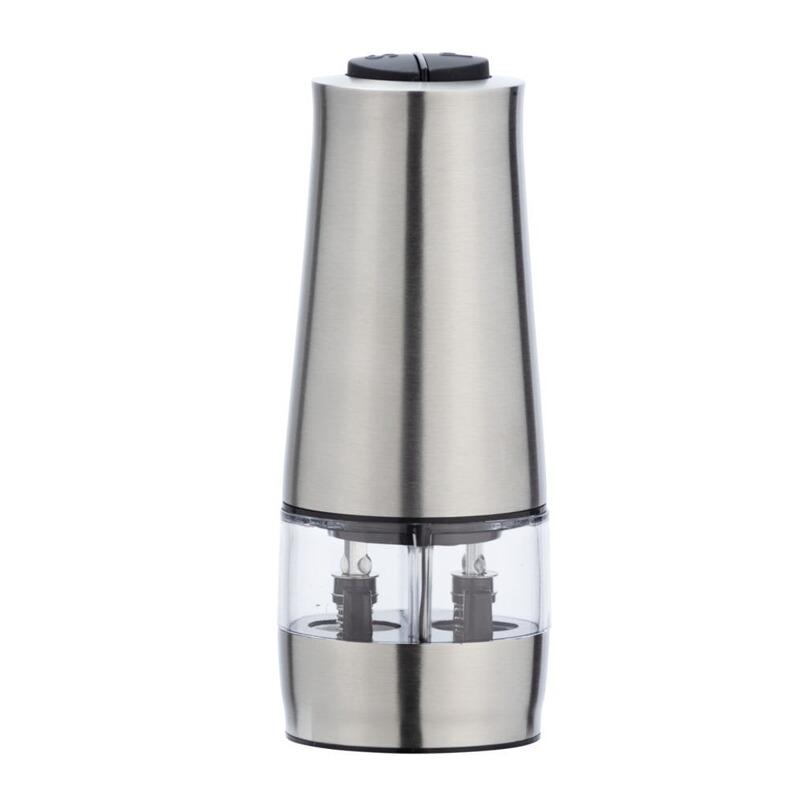 2in1 Gewürzmühle Salzmühle Pfeffermühle Gewürz Salz Pfeffer Mühle Elektrisch NEU